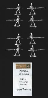 Alternative Armies 15mm Fantasy HOT41 Skeleton Advancing, Levelled Spear (x 8)